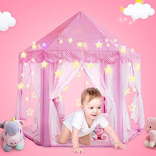 Magicfun Tenda per Bambini, Tenda Gioco per Bambini Rosa Castello di Gioco per Uso Interno e all'aperto Custodia per Trasporto, Regalo di Compleanno