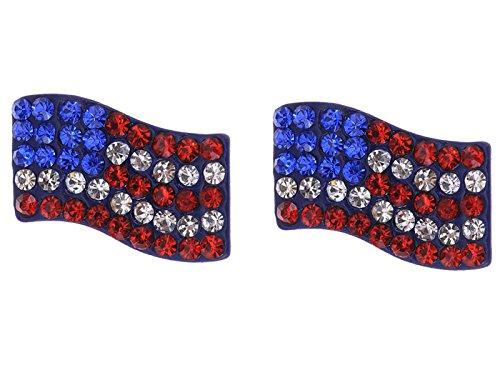 Alilang Strass Winken USA amerikanische Flagge Patriotische (Patriotische Mädchen Kostüme)