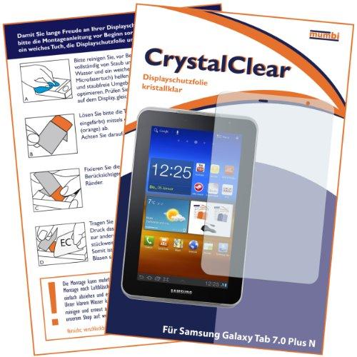 mumbi Displayschutzfolie Samsung Galaxy Tab 7.0 Plus N Displayschutz CrystalClear unsichtbar