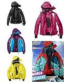 Funktionale Damen Skijacke Snowboardjacke Rot/Grün Gr. 42