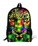 Galaxia Tigre Leon Impreso Mochila Animal Mochila Colegio Mochila Para Chicos Chicas Leopardo