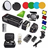Godox AD200 Kit 200 WS 2.4 G TTL Flash Strobe 1/8000 HSS Cordless Monolight W/2900 mAh Lithimu Battery and Bare Bulb/Speedlite fresnel Flash Head to Cover 500 Full Power Shots W/Eachshot cleaning cloth