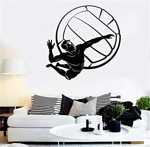 stickers muraux disney minnie Joueur de volley-ball ballon sport plage salon