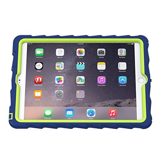 Gumdrop Cases iPad Air 2 Protective Case - Hideaway Custom Color Series mit Stand, Royal Blau/Lime (CUST-GSIPADAIR2-RYL_LME) (Custom Stand Bag)