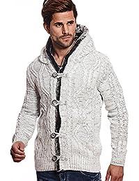 CRSM Carisma Herren - Strickjacke 7338 Streetwear Menswear Autumn Winter  Knit Knitwear Sweater Hoodie Jacket 7190d7e0e8
