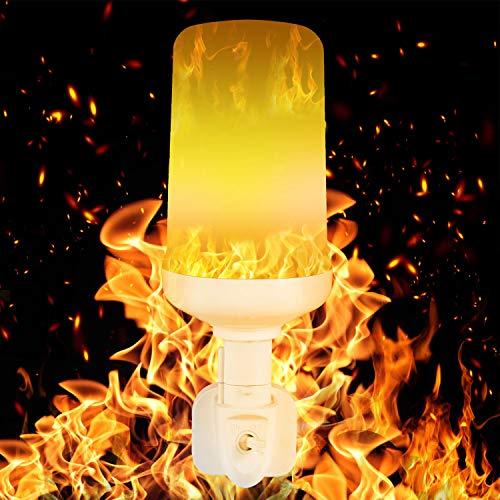 COULAX LED Flamme lampe Feuer Glühbirne mit Stecker Led Flamme Glühbirne Flackerlicht Dekorative Leuchte Simulierte Feuer Schwerkraftinduktion Lampe mit 3 Modi für Weihnachten Party -