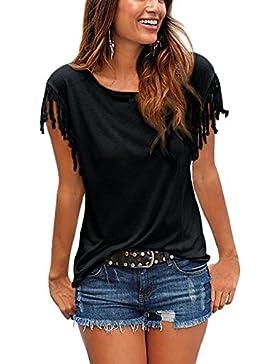 WanYang Mujeres Del De Manga Corta Camisetas Tops Casuales De Verano Camisetas