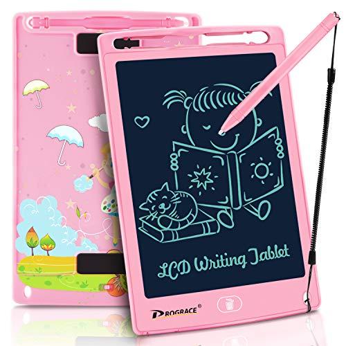 PROGRACE LCD Writing Tablet LCD-Schreibtablett für Kinder Lernen Schreibtafel Magnetic Erase LCD-Schreibunterlage Smart Doodle Zeichenbrett Tragbare Elektronik Digitale Handschrift Pads -