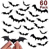 Unomor Halloween Dekorations Wandtattoo 3D Fledermaus Aufkleber Halloween Party Dekorationen DIY Home Dekorationen mit 4