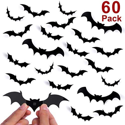Unomor Halloween Dekorations Wandtattoo 3D Fledermaus Aufkleber Halloween -