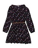 Review Teens Mädchen Kleid mit Blumenmuster und Gürtel in Navy Flower, Größe:128/134