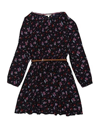 Review Teens Mädchen Kleid mit Blumenmuster und Gürtel in Navy Flower, Größe:164/170