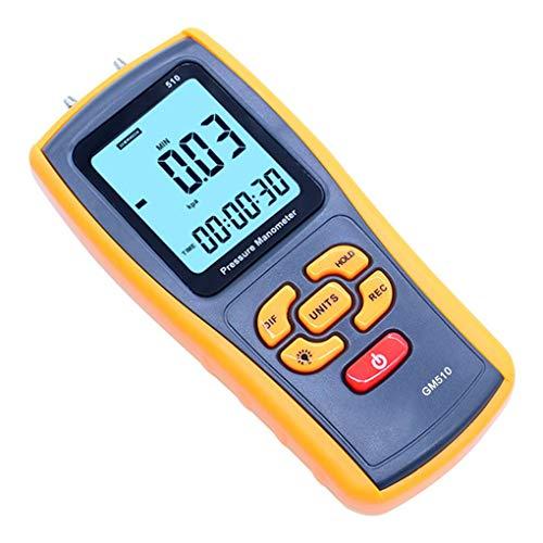 Manómetro Digital portátil, medidor de presión de Toma de Mano con Pantalla...