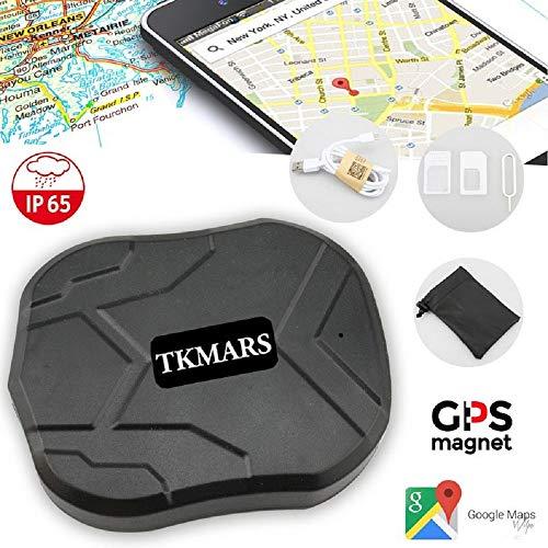 TKMARS auto GPS Tracker per veicoli 5000 mAh 90 giorni lungo standby GSM  Realtime Tracking device impermeabile gocciola allarme con forte magnete,