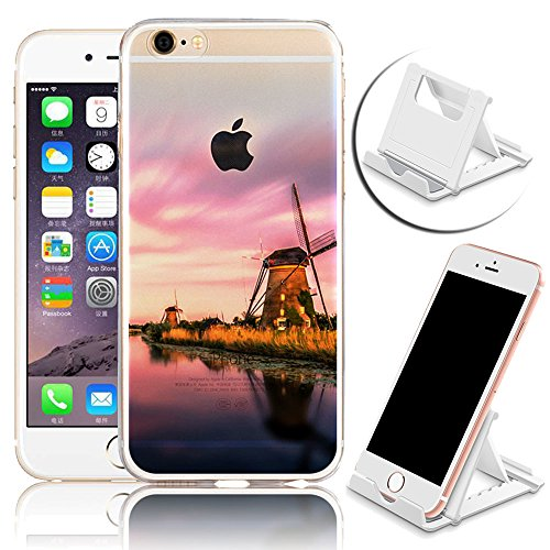 iPhone SE Hülle, iPhone 5S Hülle, iPhone 5 Schutzhülle, Vandot iPhone SE 5 5S Handyhülle Glänzend Malerei Durchsichtig Transparent Muster Pattern Diamant Bling Kristall Case Cover Thin TPU Silikon Wei Color 1
