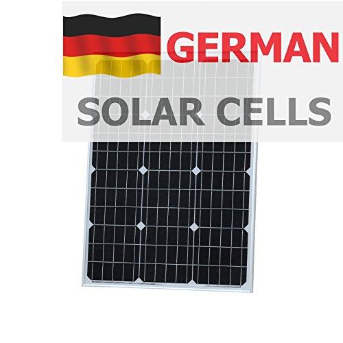 photonic universo 60W Panel Solar monocristalino de alta eficiencia, las células solares, con 2x 5m de cable solar especial-perfecto sin fuente de alimentación para cargar su batería de 12V Este panel solar monocristalino de alta eficiencia im...