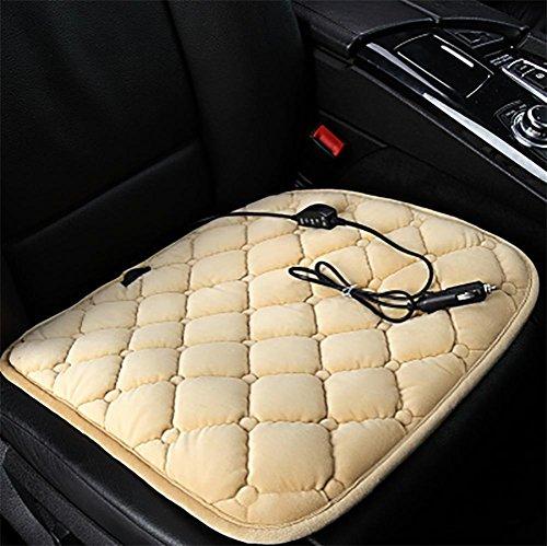 DIELIAN Auto Sitz Heizung wärmer Pad beheizt Sitz Kissen heißen Auto 12V Wärme Heizung wärmer Pad Winter , Beige