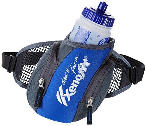 Xenofit TRINKGÜRTEL MIT TRINKFLASCHE | Auslaufsicher | Spülmaschinengeeignet | Deuter Qualität | Sportflasche mit ergonomischen Gürtel | 700ml
