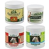 COM-FOUR® Cremes für Entspannung & Erfrischung im Set, Rotes Weinlaub/Pferdebalsam wärmend, Teufelskralle, Anti-Cellulite Gel, Pferdebalsam kühlend