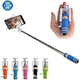Drumstone Selfie Stick With Aux Cable Wired Self Portrait Monopod Holder Compatible With Apple & Android Phones(No Bluetooth & Charging Required) Suitable With Smartphones (One Year Warranty, Assorted Colour)