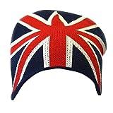 Herren Beanie / Strickmütze / Mütze mit Union-Jack-Muster (One Size) (Marineblau/Weiß/Rot)