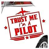 Kiwistar Trust me, im a Pilot - Flugzeug Aufkleber Sticker 25 Farben Neon Matt