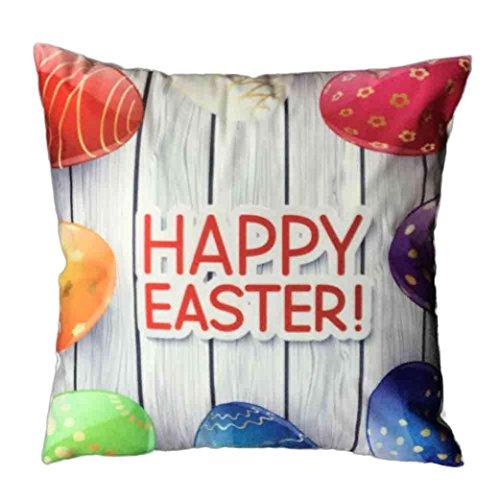 Jamicy Pasqua Festival divano-letto casa decorativo Ultra-velluto 45cm * 45 centimetri federa (M)