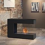 muenkel Diseño loft. Line–De C De 02biombos etanol Chimenea: unas Negro–Safetybox 3.0
