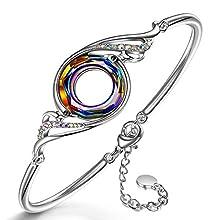Kate Lynn Frauen Armband schmuck Damen Swarovski Kristall Armband geschenkset schmuckkästchen Geschenke für Frauen Mama Frau Freundin Mädchen Freunde Jahrestag Geschenkidee