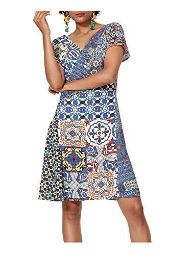1492ddaaab91 Desigual - Vestido SAYA Mujer Color: 5001 Talla: Size 40