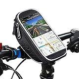 Fahrrad Rahmentasche, Omitium Wasserdicht Rahmentaschen Fahrradtaschen, Fahrrad Handyhalterung TPU Touchschirm Fahrradtasche für Smartphones Innerhalb von 5,8 Zoll