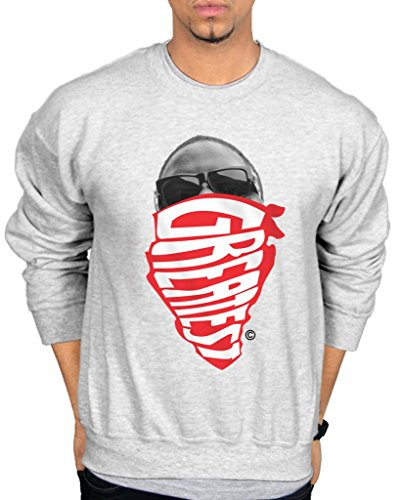 Ulterior Clothing Biggie Smalls Greatest Red Bandana Sweatshirt (Bandana-druck-kleidung)