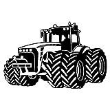 Wandtattoo Trecker Traktor Kinderzimmer Spielzimmer in 9 Größen und 19 Farben (130x82cm schwarz)