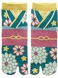 Damen Tabi Socken Zehensocken Kimono Yukata Muster