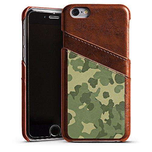 Apple iPhone 5 Housse Étui Silicone Coque Protection Motif Motif Vert Étui en cuir marron