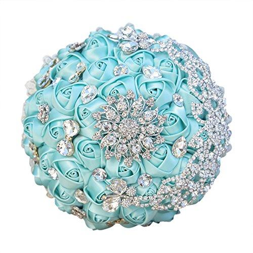 moleya Hochzeit Süßigkeiten Geschenk Boxen Party Favor Boxen mit einzigartige Blume für Brautschmuck und Baby Dusche, Zinn, blau, Diameter of 2.75
