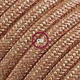 Creative-Cables Textilkabe rund, Lachs Baumwolle, RX13-10 Meter, 3x0.75