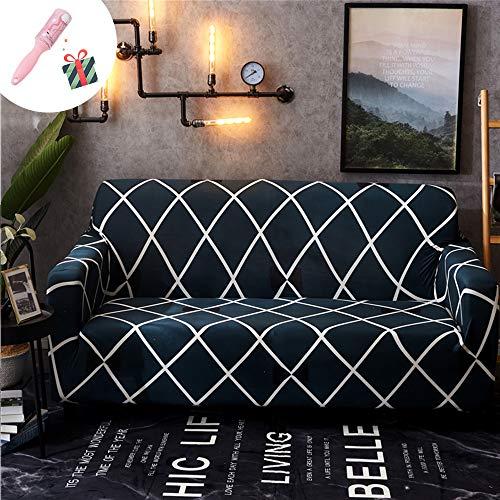 Elastisch Sofa Überwürfe Sofabezug, Morbuy Ecksofa L Form Stretch Antirutsch Armlehnen Geometrie Sofahusse Sofa Abdeckung Hussen für Sofa Couchbezug Sesselbezug (2 Sitzer,Klassisch)