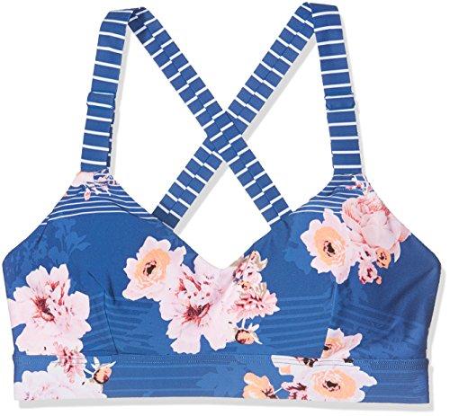 Seafolly Damen Vintage Wild Flower Dance Bralette Sport-BH, Blau (French), 100(Herstellergröße:14)