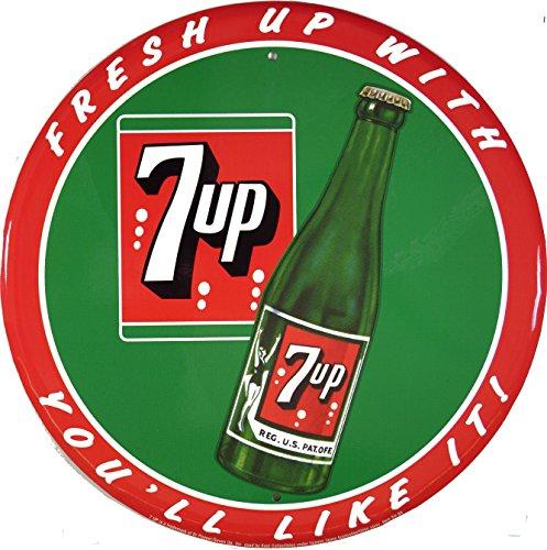 7up-you-will-like-it-rund-blechschild-flach-neu-30x30cm-s1696