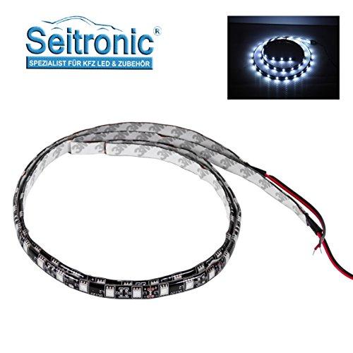 Preisvergleich Produktbild Seitronic® 2X 60cm LED Strip 5050 Innenraumbeleuchtung, Unterbodenbeleuchtung, weiß