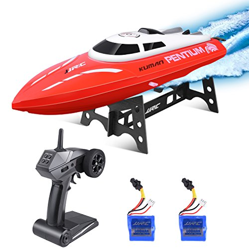 Motor-low-voltage-control-system (Kuman Remote Control Boat, 25KM/H High Speed Waterproof Rc Racing Boat with 180º Flip Function,2.4GHz LCD Display Controller for Kids/Adults Pool & Outdoor Use KS1)