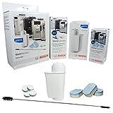 Bosch Pflegeset für Espresso-Vollautomaten 00576331 - 1 BRITA Intenza Wasserfilter - Reinigungsbürste - 10 Reinigungstabletten à 2,2 g - 3 Entkalkungstabletten à 40g / TCZ8004 - TCZ7003 - TCZ8002 - TCZ8001