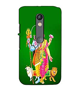 Fuson Designer Back Case Cover for Motorola Moto X Play (Ardhangani Shiv Parvati theme)