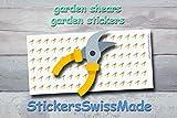 AUFKLEBER FÜR KALENDER    Gartenschere    Garten    kleine farbige Icons   für Kalender oder Bullet Journals