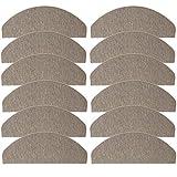 JEMIDI Stufenmatten Treppenmatten 64cm x 24cm mit geketteltem Rand und starker Befestigung (Beige, 12)