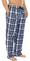 Mens Boys Gents Blue Black Check Pyjamas Lounge Bottoms Pants Trousers S M L XL