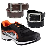 Elligator Sports Shoes With Black & Brown Belt Combo For Men (One Sports Shoes,Two Belt Combo) best price on Amazon @ Rs. 519