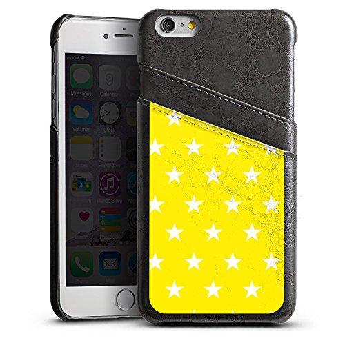 Apple iPhone 5s Housse Étui Protection Coque Étoiles Ciel Motif Étui en cuir gris