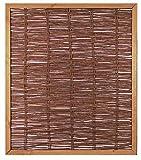 Unbekannt Weidenzaun Weidengeflecht Sichtschutz Sichtblende mit Holzrahmen Cordoba (120 x 140 cm)